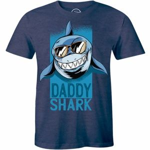 Daddy Shark Doo Doo Sunglasses Cool Dad T-shirt